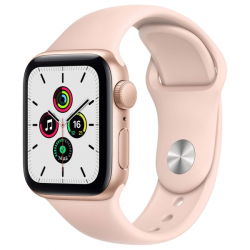 Часы Apple Watch SE 44mm Gold Aluminum Case with Pink Sand Sport Band