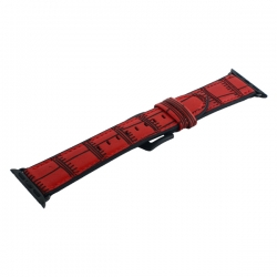 Ремешок кожаный для Apple Watch 42/ 44мм COTEetCI W37 (Красный)