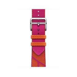 Ремешок для Apple Watch 38/ 40мм Hermès Orange/ Rose Mexico Jumping Single Tour