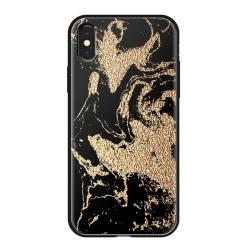 Чехол-накладка для iPhone XS/ X Deppa Glass Case (Золотистый)