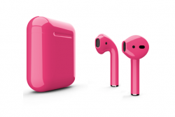 Беспроводная гарнитура Apple AirPods 2 Color без беспроводной зарядки чехла (Розовый глянцевый)