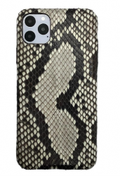 Чехол-накладка кожаная для iPhone 11 Pro No Logo Питон (Черно-серый)