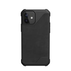 Противоударный чехол для iPhone 12 mini UAG Metropolis LT кожа (Черный)