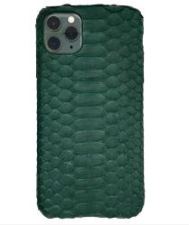 Чехол-накладка кожаная для iPhone 11 Pro Max No Logo Питон (Зелёный)