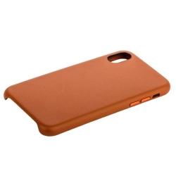 Накладка кожаная для iPhone X (5.8) COTEetCI Elegant (Коричневый)