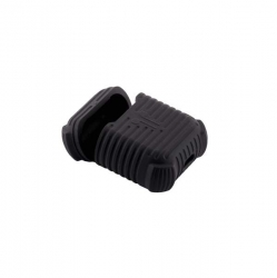 Чехол силиконовый для AirPods 1/ 2 COTEetCI CS8106 (Черный)