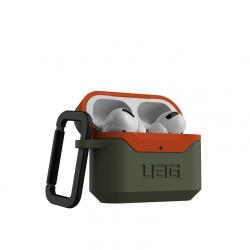 Чехол для AirPods Pro UAG Hardcase V2 (Оливковый-оранжевый)