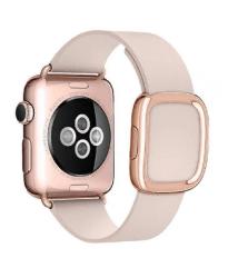 Ремешок кожаный для Apple Watch 40/ 44мм Modern Buckle (Rose Pink)