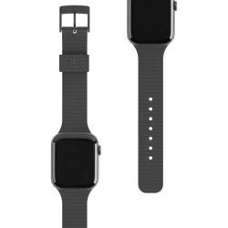 Ремешок силиконовый для Apple Watch 42/ 44мм UAG [U] DOT STRAP (Черный)