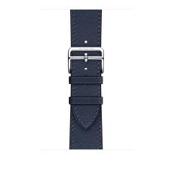 Ремешок для Apple Watch 42/ 44мм Hermès Navy Swift Leather Single Tour