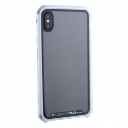Чехол-накладка для Apple iPhone X/ XS  Element Case G-Solace (Серебристо-белый ободок)