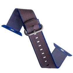 Ремешок из плетёного нейлона для Apple Watch 42/ 44мм COTEetCI W11 NYLON BAND (Фиолетовый)