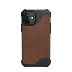 Противоударный чехол для iPhone 12 mini UAG Metropolis LT кожа (Коричневый)
