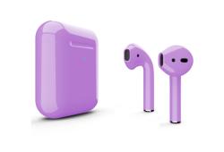 Беспроводная гарнитура Apple AirPods 2 Color беспроводная зарядка чехла (Ультрофиолетовый глянцевый)