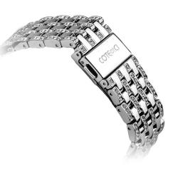 Ремешок со стразами из нержавеющей стали для Apple Watch 42/ 44мм COTEetCI W4 Magnificent Band (Серебристый)