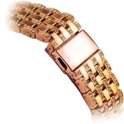 Ремешок со стразами из нержавеющей стали для Apple Watch 38/ 40мм COTEetCI W4 Magnificent Band (Розовое золото)