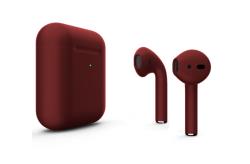 Беспроводная гарнитура Apple AirPods 2 Color беспроводная зарядка чехла (Бордовый матовый)