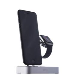 Док-станция для Apple Watch & iPhone COTEetCI Base Hub Dock (Серебро)