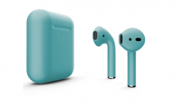 Беспроводная гарнитура Apple AirPods 2 Color беспроводная зарядка чехла (Мятный матовый)