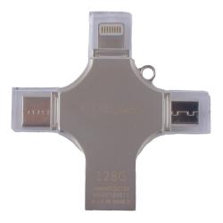 Флеш-накопитель COTEetCI 4in1 Zinc Alloy 128G (Серебристый)