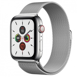 Умные часы Apple Watch S5 GPS + Cellular 44mm Stainless Steel Case with Milanese Loop