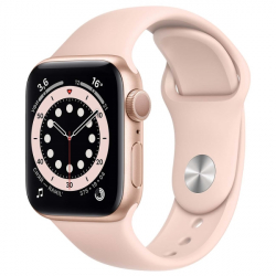 Часы Apple Watch Series 6 40mm Gold Aluminum Case with Pink Sand Sport Band