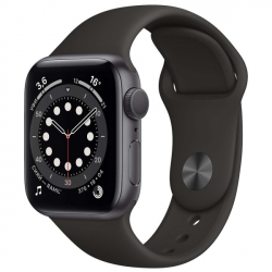 Часы Apple Watch Series 6 40mm Space Gray Aluminum Case with Black Sport Band