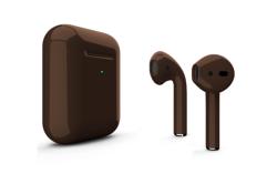 Беспроводная гарнитура Apple AirPods 2 Color беспроводная зарядка чехла (Коричневый глянцевый)