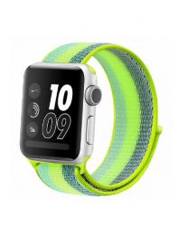 Ремешок для Apple Watch 42/ 44мм W17 Magic Tape Band (Green Stripe)