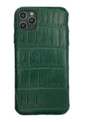 Чехол-накладка кожаная для iPhone 11 Pro Max No Logo Аллигатор (Зеленый)