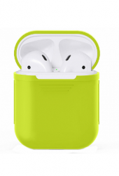 Чехол силиконовый для AirPods 1/ 2 (Green)