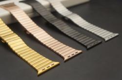 Ремешок из нержавеющей стали для Apple Watch 42/ 44мм Блочный (Розовое золото)