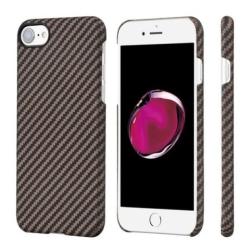 Кевларовый Чехол Pitaka для Apple IPhone 8 в полоску (Черно-Коричневый)