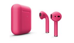 Беспроводная гарнитура Apple AirPods 2 Color беспроводная зарядка чехла (Розовый матовый)