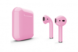 Беспроводная гарнитура Apple AirPods 2 Color без беспроводной зарядки чехла (Гвоздика глянцевый)