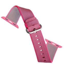 Ремешок из плетёного нейлона для Apple Watch 42/ 44мм COTEetCI W11 NYLON BAND (Розовый)