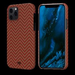 Чехол для Apple IPhone 12/ 12 Pro Pitaka MagEZ Case в ромбик (Красно-оранжевый)