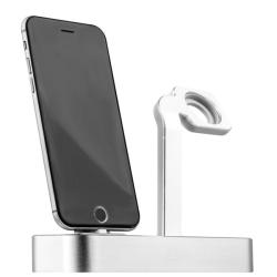 Док-станция для Apple Watch & iPhone COTEetCI Base5 (Серебро)