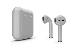 Беспроводная гарнитура Apple AirPods 2 Color беспроводная зарядка чехла (Серый глянцевый)