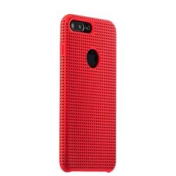 Чехол-накладка для iPhone 7 Plus/ 8 Plus COTEetCI Vogue Silicone Case (Красный/ Черный)