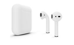 Беспроводная гарнитура Apple AirPods 2 Color без беспроводной зарядки чехла (Серебристый матовый)
