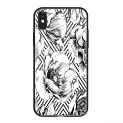 Чехол-накладка для iPhone XS Max Deppa Glass Case (Белый)