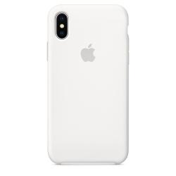Силиконовый чехол для iPhone X/ XS (Белый)