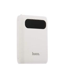 Внешний аккумулятор универсальный Hoco B20-10000 mAh Mige Power Bank (2USB: 5V-2.1A) Белый