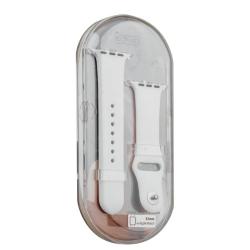 Ремешок спортивный для Apple Watch 38/ 40мм COTEetCI W3 Sport Band (Белый)