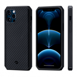 Чехол для Apple IPhone 12/ 12 Pro Pitaka MagEZ Case Pro 2 (Черно-серый)