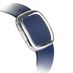 Ремешок кожаный для Apple Watch 38/ 40мм Modern Buckle (Тёмно-синий)