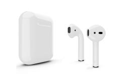 Беспроводная гарнитура Apple AirPods 2 Color без беспроводной зарядки чехла (Серебристый глянцевый)