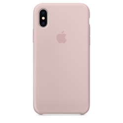 Силиконовый чехол для iPhone X/ XS (Розовый песок)