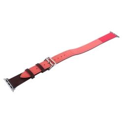 Ремешок кожаный для Apple Watch 38/ 40мм COTEetCI W36 Fashoin Leather (Коричневый-Розовый)